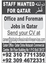 Office & Foreman Jobs 2021 in Doha Qatar