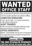 Computer Operator Jobs 2021 in Lahore