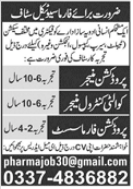Production Manager and QC Manager Jobs 2021