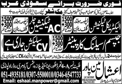 Construction & Technical Staff Jobs 2021 in Makkah City