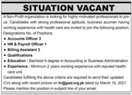 Jamiyat Punjabi Saudagran e Delhi NGO Jobs 2021 in Karachi