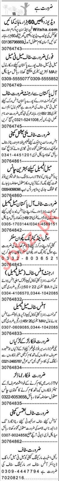 Express Sunday Faisalabad Classified Ads 7 March 2021