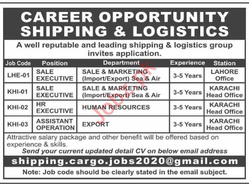 Sale Executive & HR Executive Jobs 2021 in Karachi