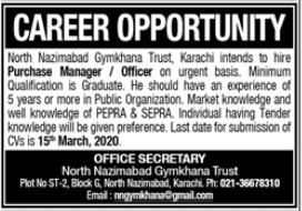 North Nazimabad Gymkhana Trust Job 2021 in Karachi