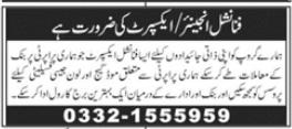 Financial Engineer & Financial Expert Jobs in Rawalpindi