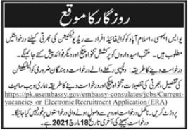 US Embassy Job 2021 For Radio Technician in Islamabad
