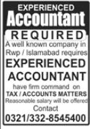 Accountants Jobs 2021 in Rawalpindi & Islamabad
