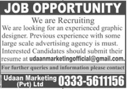 Graphic Designer Job 2021 in Rawalpindi