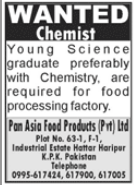 Pan Asia Food Products Pvt Ltd Job 2021 For Chemist