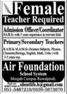 Air Foundation School System Jobs 2021 in Rawalpindi