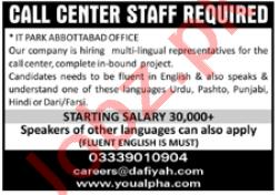 Dafiyah Enterprises Peshawar Jobs 2021 for Call Center Staff