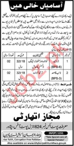 P O Box No 624 General Post Office Peshawar Jobs 2021