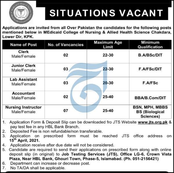 Medicaid College of Nursing Jobs 2021 in Lower Dir