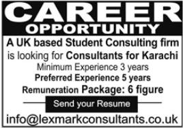 Student Consulting Firm Jobs 2021 in Karachi