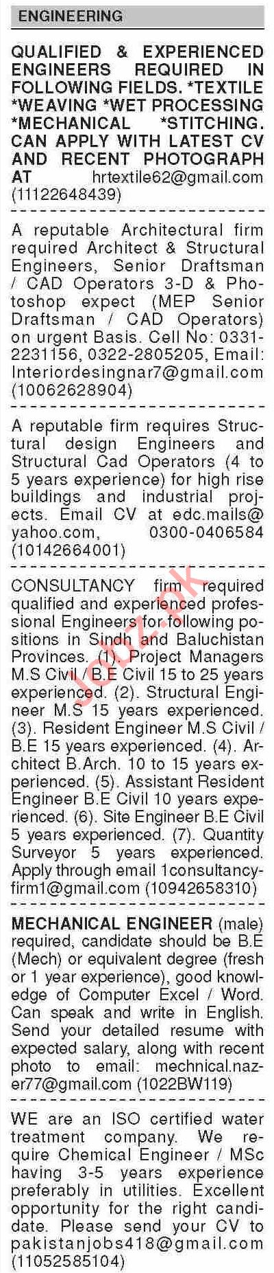 Dawn Sunday Classified Ads 14 March 2021 for Engineering
