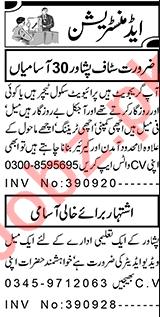 HR Officer & Branch Manager Jobs 2021 in Peshawar