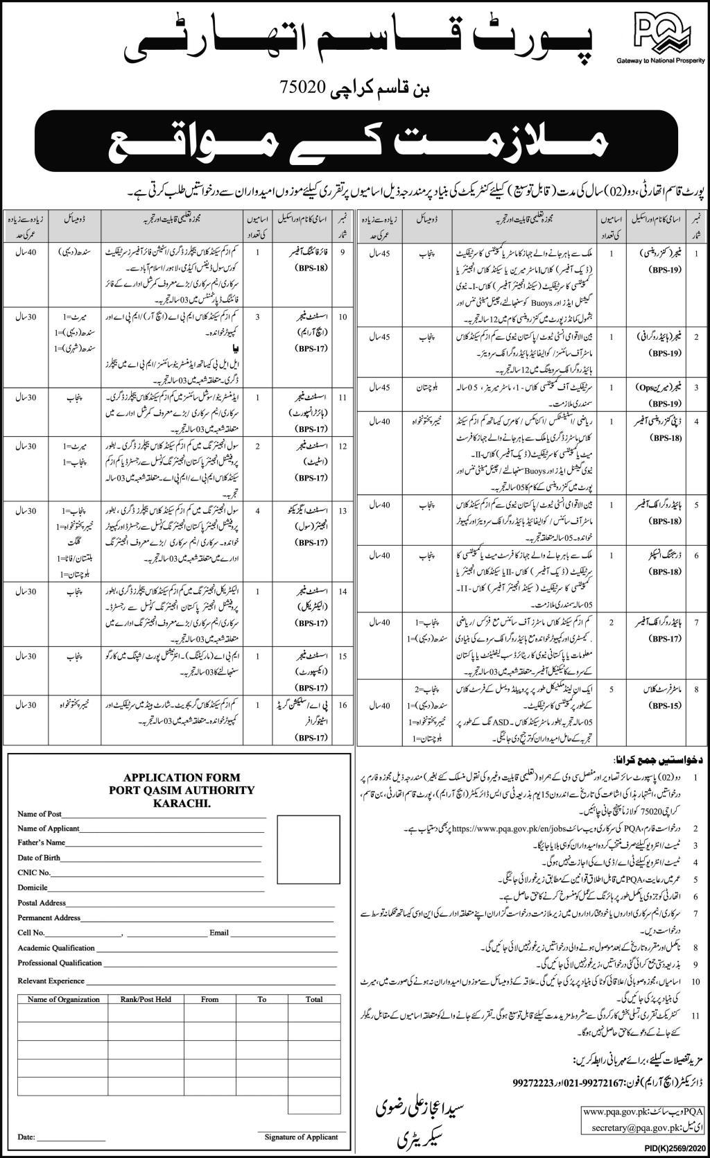Port Qasim Authority Jobs 2021 in Karachi