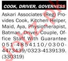 Malik Associates Jobs 2021 for Batman & Aya