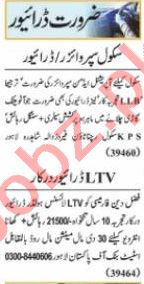 Nawaiwaqt Sunday Classified Ads 21 March 2021 for Driving