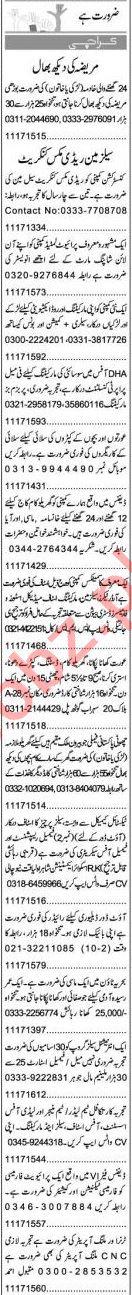 Express Sunday Karachi Classified Ads 28 March 2021