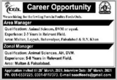 Area Managers & Zonal Managers Jobs 2021