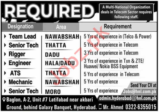 Hitech Networks HNL Hyderabad Jobs 2021 for Team Lead