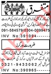 Factory Worker & Loader Jobs 2021 in Peshawar