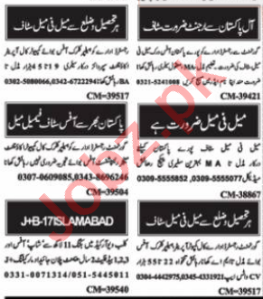 Admin Officer & Admin Manager Jobs 2021 in Islamabad