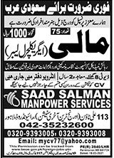 Saad Salman Manpower Jobs 2021 in Saudi Arabia