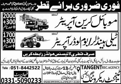 Tangent Recruiting Agency Jobs 2021 in Qatar