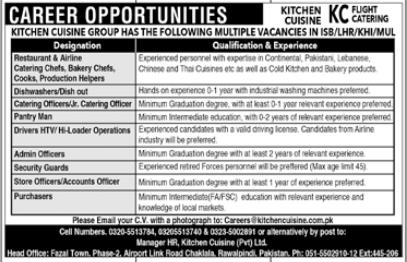 Kitchen Cuisine Group Jobs 2021 For Management Staff