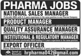 Pharmaceutical Company Jobs 2021