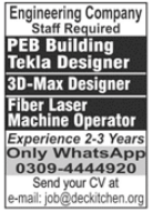 Engineering Company Jobs 2021 in Lahore