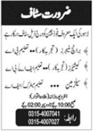Restaurant Staff Jobs 2021 in Lahore