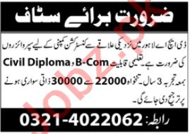 Accountant & Civil Engineer Jobs 2021 in Lahore