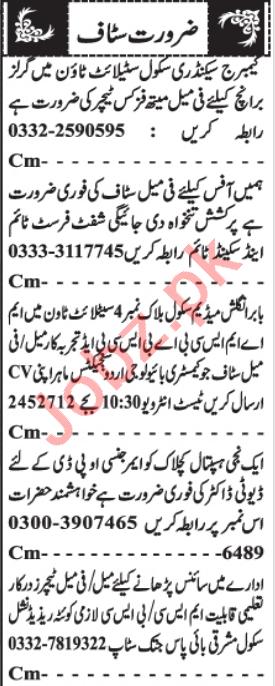 OPD Doctor & Office Assistant Jobs 2021 in Karachi