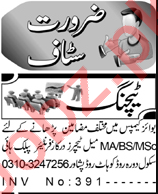 Coordinator & Teacher Jobs 2021 in Peshawar