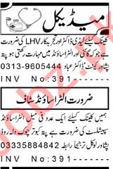 Female Ultrasound Specialist & LHV Jobs 2021 in Peshawar