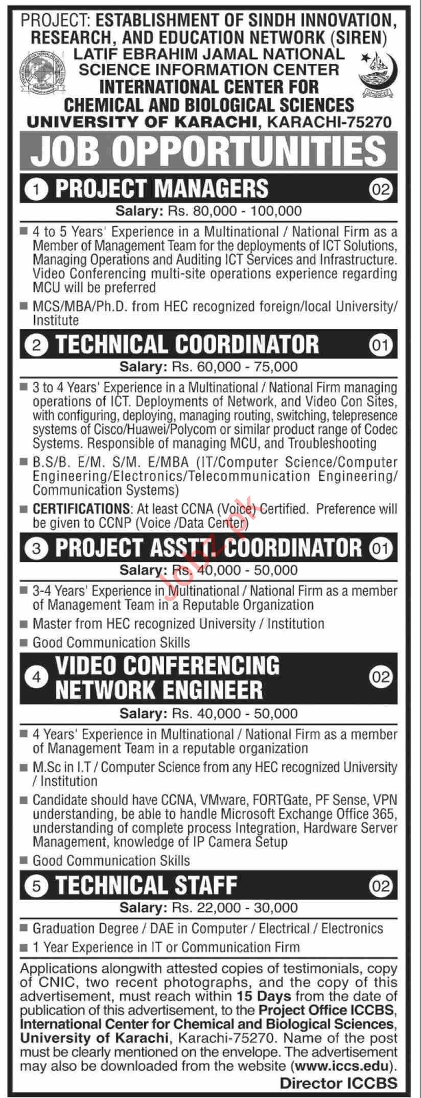Sindh Innovation Research & Education Network SIREN Jobs