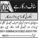 Security Staff Jobs 2021 in Rawalpindi & Islamabad