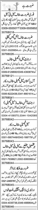 Daily Express Newspaper Classified Jobs 2021 in Lahore
