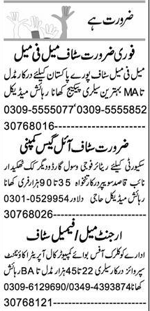 Daily Express Newspaper Classified Jobs 2021 in Peshawar