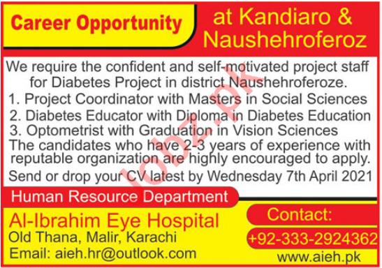 Al Ibrahim Eye Hospital AIEH Jobs 2021 for Optometrist