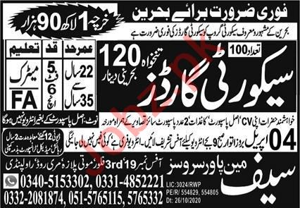 Security Guard & Security Officer Jobs 2021 in Bahrain
