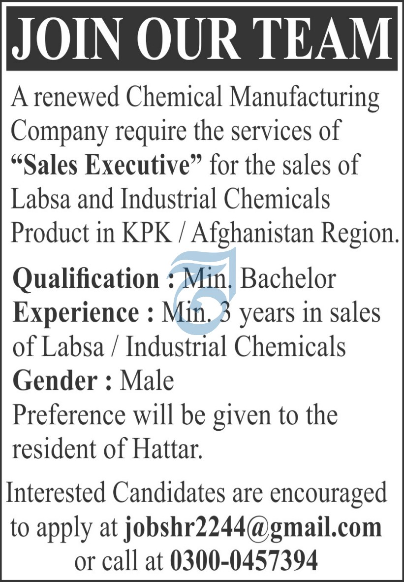 Chemical Manufacturing Company Jobs 2021