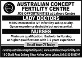 Australian Concept Fertility Centre Jobs 2021