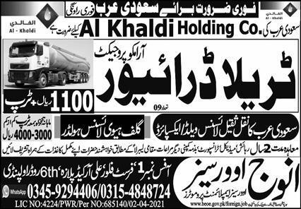 Al Khaldi Holding Company Jobs 2021 in Saudi Arabia