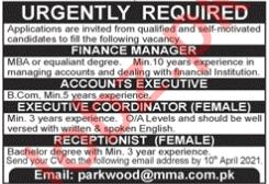 Female Executive Coordinator & Receptionist Jobs 2021