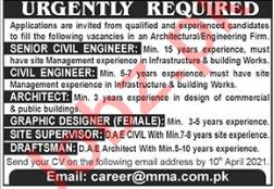 MMA Pakistan Jobs 2021 for Engineer & Architect