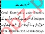 AutoCAD Designer & Graphic Designer Jobs 2021 in Peshawar